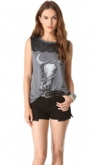 Skull and snake tee by Haute Hippie at Shopbop