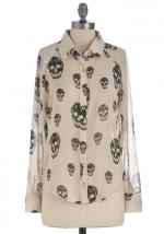 Skull print blouse at ModCloth at Modcloth
