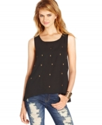 Skull studded tank by Material Girl at Macys
