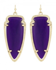 Skylar Earrings in Purple at Kendra Scott
