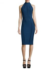Sleeveless Turtleneck Sheath Dress at Neiman Marcus