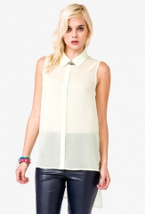 Sleeveless Chiffon Top at Forever 21