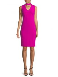 Sleeveless Choker Dress by Calvin Klein at Saks Off 5th