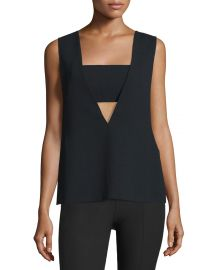 Sleeveless Crepe Bandeau Top  by T by Alexander Wang at Neiman Marcus