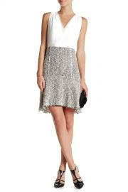 Sleeveless Crepe and Tweed Dress at Nordstrom Rack
