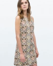 Sleeveless Jacquard Dress at Zara