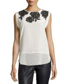 Sleeveless Lace Top Plush at Last Call