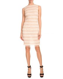 Sleeveless Micro-Ruffle Cocktail Dress at Neiman Marcus