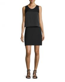 Sleeveless Popover-Bodice Sheath Dress at Neiman Marcus