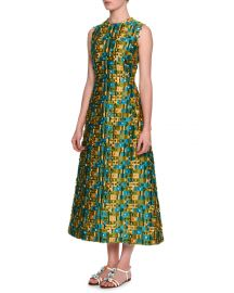 Sleeveless Raw-Edge Midi Dress by Dolce and Gabbana at Neiman Marcus