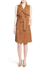 Sleeveless Suede Trench Dress at Nordstrom Rack