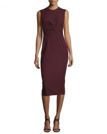 Sleeveless Twist-Front Sheath Dress at Neiman Marcus