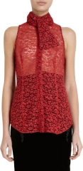 Sleeveless lace blouse by L Wren at Barneys