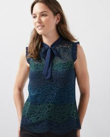 Sleeveless lace top at RW&Co