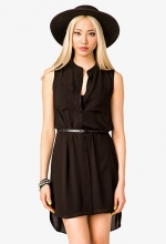 Sleeveless shirt dress at Forever 21