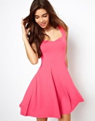 Sleeveless skater dress at Asos