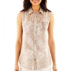 Sleeveless snakeskin print shirt by Liz Claiborne at JC Penney