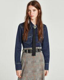 Slim Fit Western Denim Shirt by Zara at Zara