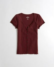 Slim Henley T-shirt at Hollister