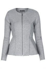 Slim Peplum Zip Jacket at Topshop