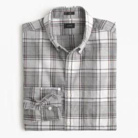 Slim Secret Wash shirt in burnished mahogany plaid at J. Crew