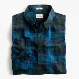 Slim Secret Wash shirt in heather poplin plaid at J. Crew