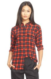 Slim Signature Plaid Silk Shirt by Equipment  at Nordstrom