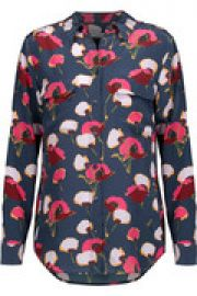 Slim Signature floral-print washed-silk shirt at The Outnet