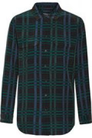 Slim Signature plaid washed-silk shirt at The Outnet