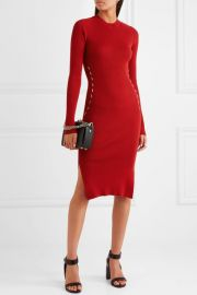 Slim-fit Knitted Dress by Mugler at Net A Porter