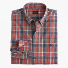 Slim jaspandeacute cotton shirt in cabin plaid at J. Crew