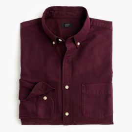 Slim vintage oxford shirt in tonal cotton in Dark Burgundy at J. Crew