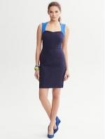 Sloan colorblock dress at Banana Republic