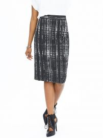 Sloan fit printed pencil skirt at Banana Republic