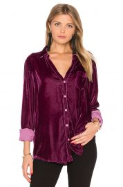 Sloane Velvet Button Up by CP Shades at Revolve