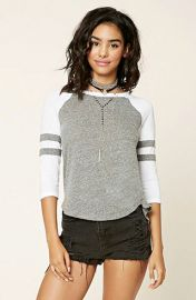 Slub Knit Baseball Tee at Forever 21