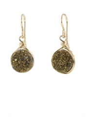 Small Drusy Earrings at Bottica