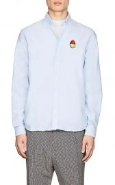 Smiley-Patch Cotton Oxford Shirt AMI Alexandre Mattiussi at Barneys