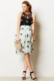 Smitten Organza Dress at Anthropologie