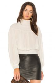 Smocked Tie Back Blouse by Frame at Revolve