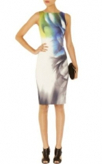 Smokey placed print dress at Karen Millen