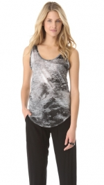 Smudge print tank by Helmut Lang at Shopbop