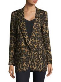 Smythe - Leopard Print Notch Lapel Blazer at Saks Fifth Avenue