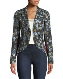 Smythe Floral-Print One-Button Blazer   Neiman Marcus at Neiman Marcus