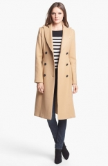 Smythe Long Double Breasted Wool Coat at Nordstrom