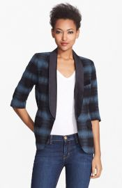 Smythe Plaid Smoking Jacket at Nordstrom