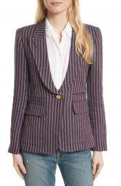 Smythe Stripe Cotton Blazer at Nordstrom
