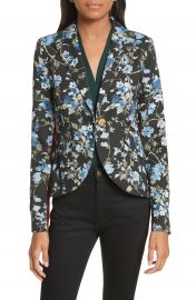 Smythe Tuxedo Stripe Floral Jacquard Blazer at Nordstrom
