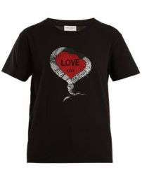 Snake and heart-print cotton jersey T-shirt at Matches