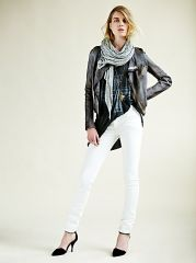 Snake leather jacket by Blur at Free People